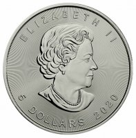 2020 1 oz Canadian Silver Maple Leaf Coin - Gem BU