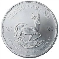 2020 1 oz South African Silver Krugerrand Coin BU Reverse