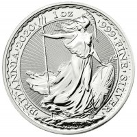 2020 1 oz Great Britain Silver Britannia Coin - Gem BU