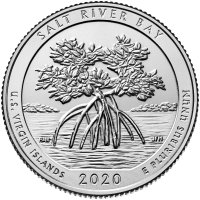 2020-W Salt River Bay National Historic Park Quarter Coin - W Mint - BU