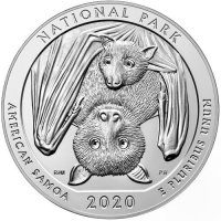 2020 5 oz ATB National Park of American Samoa Silver Coin - BU (In Capsule)