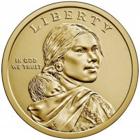 2020 Native American Golden Dollar Coin - P or D Mint