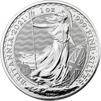 2021 1 oz Great Britain Silver Britannia Coin - Gem BU