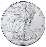 2021 1 oz American Silver Eagle Coin - Gem BU