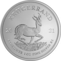 2021 1 oz South African Silver Krugerrand Coin - Gem BU
