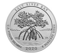 2020-P 5 oz Burnished Salt River Bay National Historic Park and Preserve  ATB Silver Coin (w/ Box & COA)