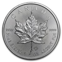 2021 1 oz Canadian Silver Maple Leaf Coin - Gem BU