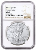 2021 1 oz American Silver Eagle Coin - NGC MS-69