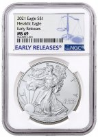 2021 1 oz American Silver Eagle Coin - NGC MS-69 Early Release