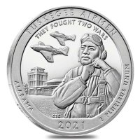2021 5 oz ATB Tuskegee Airmen National Historic Site Silver Coin - Gem BU (In Capsule)