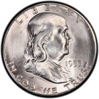 1953-S Franklin Silver Half Dollar Coin - Choice BU