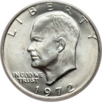 1972 Eisenhower Dollar Coin - Choose Mint Mark - BU