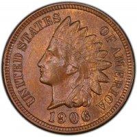 Indian Head Cent Coin - BU (Brown)1898-1909 Indian Head Cent Coin - BU (Brown)