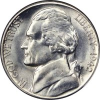 1942-S Jefferson War Nickel Silver Coin - Choice Uncirculated