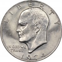 1974 Eisenhower Dollar Coin - Choose Mint Mark - BU