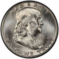 1954-D Franklin Silver Half Dollar Coin - Choice BU
