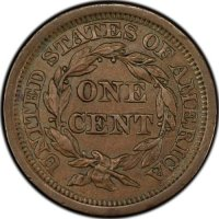 1800's U.S. Large Cent Coin - Borderline Uncirculated