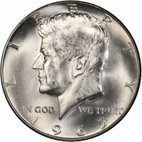 1965 40% Silver Kennedy Half Dollar Coin - Choice BU