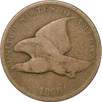 1858 Flying Eagle Cent Coin - Small Letters - Good