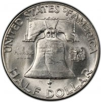 1950 Franklin Silver Half Dollar Coin - Choice BU