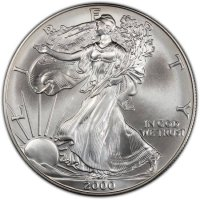 2000 1 oz American Silver Eagle Coin - Gem BU