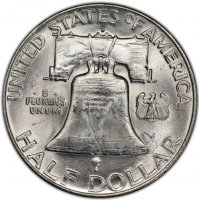 1950-D Franklin Silver Half Dollar Coin - Choice BU
