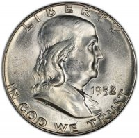 1952 Franklin Silver Half Dollar Coin - Choice BU