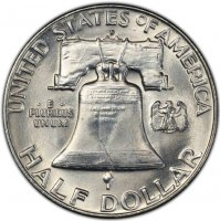 1958-D Franklin Silver Half Dollar Coin - Choice BU