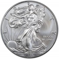2018 1 oz American Silver Eagle Coin - Gem BU