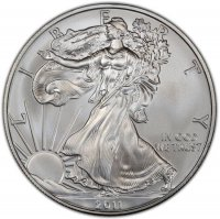 2011 1 oz American Silver Eagle Coin - Gem BU