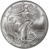 2010 1 oz American Silver Eagle Coin - Gem BU