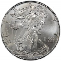 1996 1 oz American Silver Eagle Coin - Gem BU