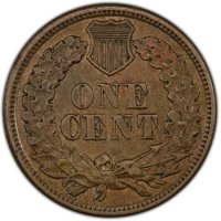 1862 or 1863 Copper Nickel Indian Head Cent Coin From The Civil War - About Uncirculated