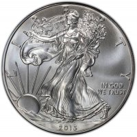 2013 1 oz American Silver Eagle Coin - Gem BU