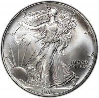 1992 1 oz American Silver Eagle Coin - Gem BU