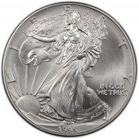 1995 1 oz American Silver Eagle Coin - Gem BU