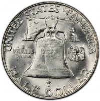 1952-D Franklin Silver Half Dollar Coin - Choice BU