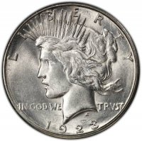 1923-S Peace Silver Dollar Coin - Brilliant Uncirculated (BU)