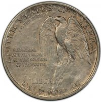 1925 Stone Mountain Commemorative Silver Half Dollar Coin - XF / AU