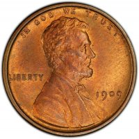 1909-VDB Lincoln Wheat Cent Coin - Choice BU (Red & Brown)
