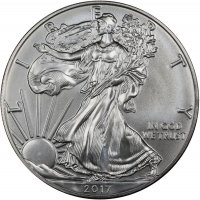 2017 1 oz American Silver Eagle Coin - Gem BU