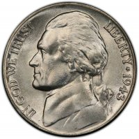 1943-P Jefferson War Nickel Silver Coin - Choice Uncirculated