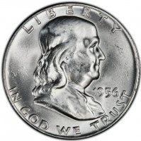 1956 Franklin Silver Half Dollar Coin - Choice BU