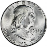 1962 Franklin Silver Half Dollar Coin - Choice BU