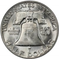 1957-D Franklin Silver Half Dollar Coin - Choice BU