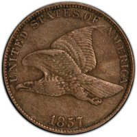 1857 Flying Eagle Cent Coin - Extremely Fine