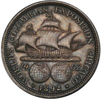 1892 Columbian Exposition Commemorative Silver Half Dollar Coin - XF
