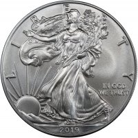 2019 1 oz American Silver Eagle Coin - Gem BU