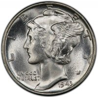 1943 Mercury Silver Dime Coin - Choice BU