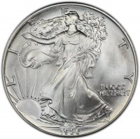 1986 1 oz American Silver Eagle Coin - Gem BU